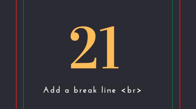 line break html