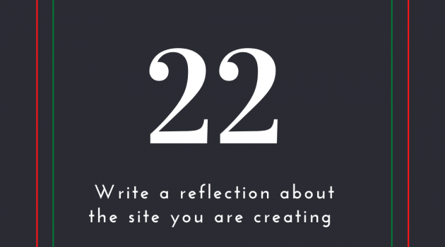 Reflection on website